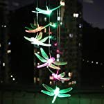 KUAHAIHINTERAL Solar Power Wind Chime Light Spiral Spinner Decorative Mobile Waterproof Outdoor Romantic Wind Bell Light… 8