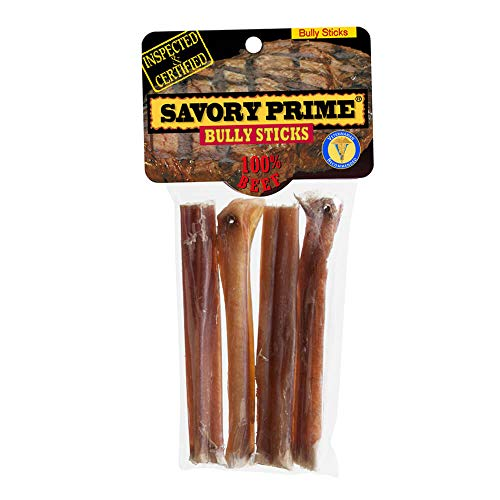 Savory Prime Bully Stick Fully Digestible Natural Dog Chewable Pet Treats 5\
