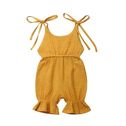 Julhold 0-3 Jaar Baby Jongens Meisjes Zomer Nieuwe Casual Ademende Effen Romper Bodysuit Katoen Jumpsuit Outfits Sunsuit