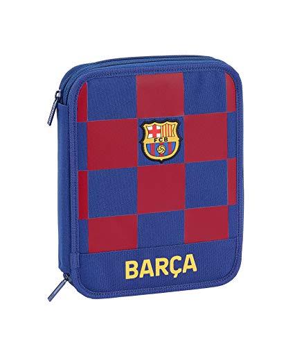 FCB FC Barcelona Estuche, Niños Unisex, Azul Marino, 19.5×24.8×4.5