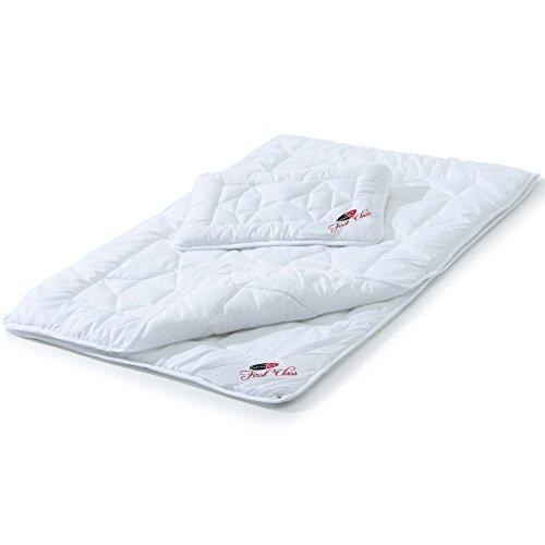 CelinaTex First Class Kids Steppdecke 4 Jahreszeiten Decke 100x135 cm Set mit 40x60 cm Kopfkissen Kinder Bettdecke