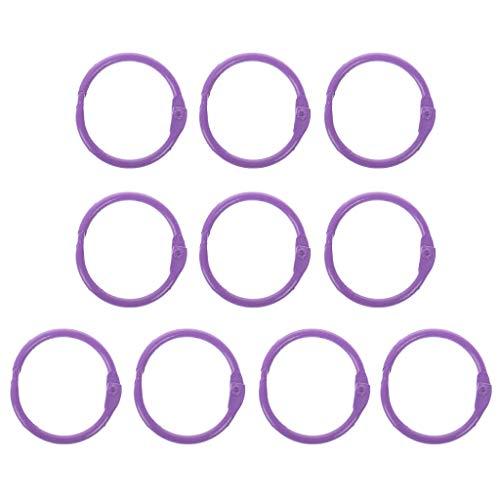 Taihely 10 anillos de metal para carpetas de hojas sueltas de 30 mm de diámetro exterior, llavero, tarjeta de índice, multicolor para la escuela, oficina, cuaderno, álbumes, manualidades