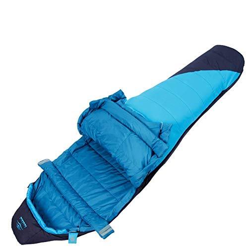 Sac de Couchage Momie Durable Sac de Couchage Chaud et léger, Respirant Confortable 4 Saisons, idéal pour la randonnée Randonnée pédestre Camping (Color : Blue)