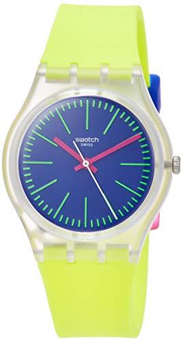 Orologio Swatch Gent GE255 Al quarzo (batteria) Plastica Quandrante Blu Cinturino Silicone