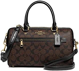 Coach Rowan Satchel In Signature Canvas IM Brown Black Small product image