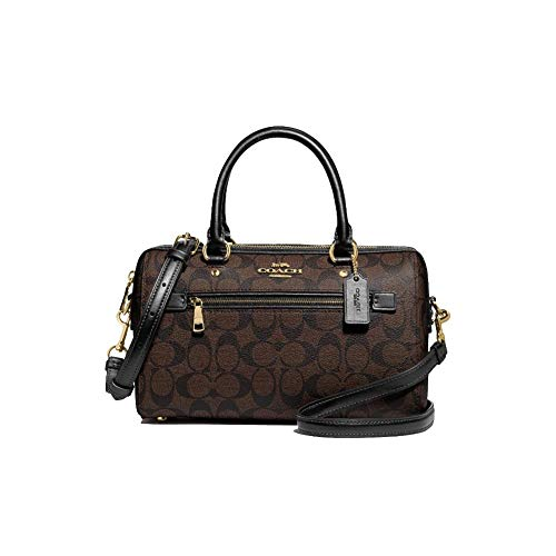 Coach Rowan Satchel In Signature Canvas (IM/Brown/Black), Small