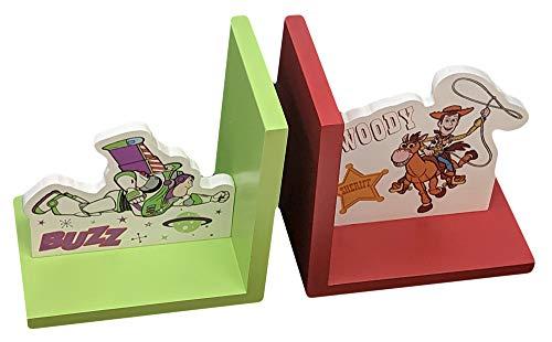 Widdop DI621 Buchstützen Disney Pixar Toy Story 4 Buzz Lightyear und Woody für Kinderzimmer