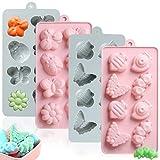 PUDSIRN - Stampi per cioccolatini in silicone, antiaderenti, per cioccolato, caramelle, sapone,...