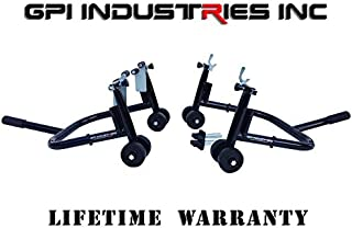 Pro Series II - Universal Front and Rear Motorcycle Sportbike Paddock Race Stands Lifts For Kawasaki Suzuki Honda Yamaha BMW Ducati Triumph Sport and Sport Touring Bikes - By GPI Industries