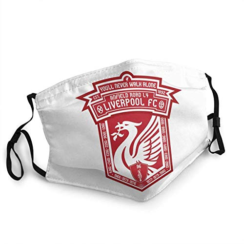 Mundschutz PQN Liverpool F.C. Club Classic Logo Abzeichen Unisex atmungsaktiv Weicher und komfortabler atmungsaktiver Wind und waschbares staubdichtes Gesicht