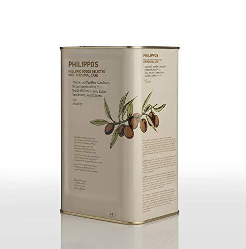 PHILIPPOS フィリッポス オーガニック エクストラバージン オリーブオイル 3L 賞味期限2022/09/21