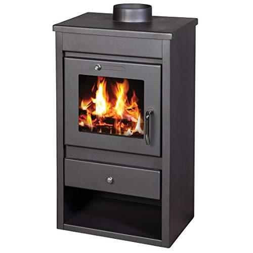 Victoria 05 – Quemador de leña para estufa de combustible, de lujo, 9 kw, diseño ecológico
