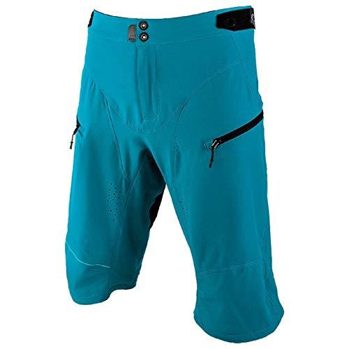 O'NEAL | Mountainbike-Hose | MTB Mountainbike DH Downhill FR Freeride | Wasserdichtes, Atmungsaktives Material, 100% Polyester | Rockstacker Shorts | Erwachsene | Blau | Größe 32/48