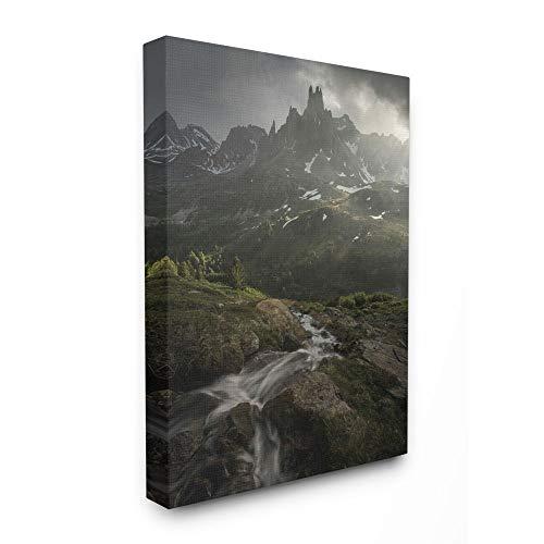 Stupell Industries Misty Mountain Peaks Epische Landschaft Foto Gemälde, über Leinwand gespannt 16x20 Canvas