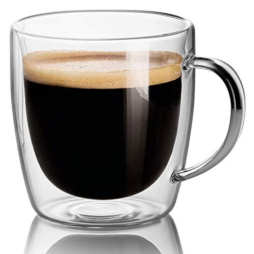 code promo réputation fiable bas prix Tasse à café en verre - Tasses à café espresso en verre à double paroi de  400 ML. Lave-vaisselle. Micro-ondes, congélateur SANS RISQUE - ...