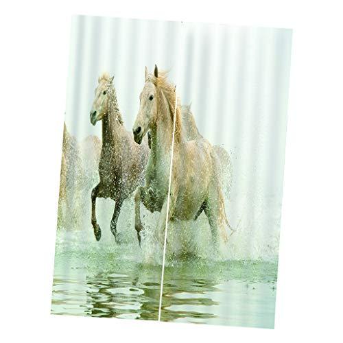 F Fityle Pferd Verdunkelungsvorhang Thermovorhang Gardinen Vorhang Duschvorhang Dekoration - 150x166cm