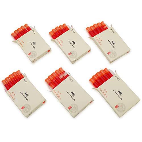 JINHAO - Juego de 30 cartuchos de tinta para pluma estilográfica Jinhao y Baoer de tamaño estándar, color Naranja Soleado