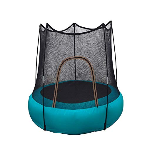 Children's Inflatable Trampoline Indoor Outdoor Junior Trampoline Set With Enclosure Safety Net Water-Resistance Foldable Jumping Bed Waterpark Fun Summer Outdoor Water Games
