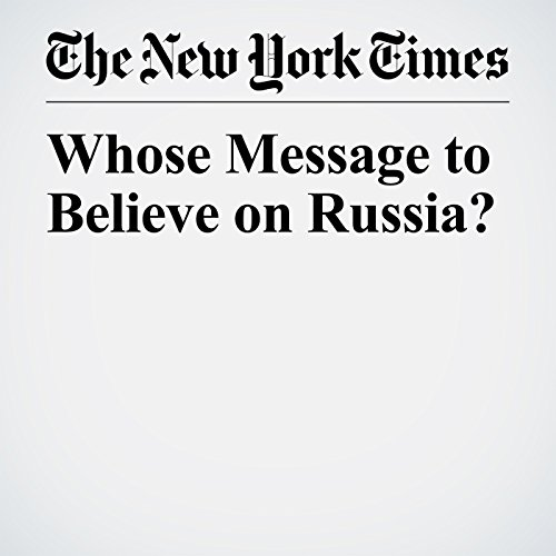 Whose Message to Believe on Russia? copertina