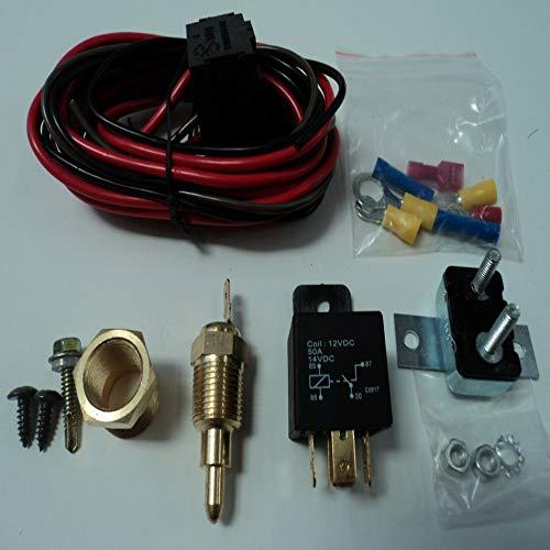 Emilyisky Interruptor de Temperatura Universal Sensor Radiador del Motor Termostato 50A Kits de relé activados a 185 ° y desactivados a 170 ° Colorido