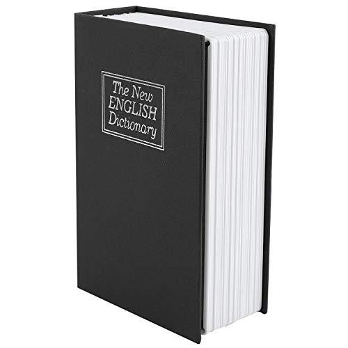 Caja fuerte para libros con cerradura de combinación, diccionario, libro de desvío, caja fuerte portátil, ideal para guardar dinero, joyería, pasaporte mediano