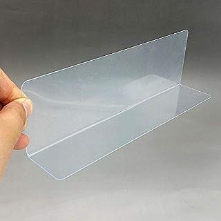 المشابك - رف بلاستيكي من البولي فينيل كلورايد مقسم جانبي شفاف سميك 0.8 مم لمتاجر البيع بالتجزئة 20 قطعة (L320 × W40 × H100...