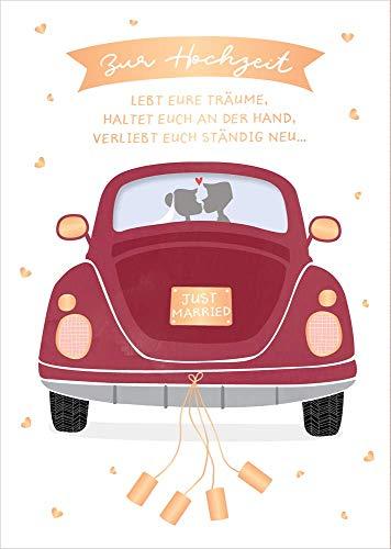 Grafik-Werkstatt Glückwunschkarte Hochzeit |Musikkarte mit Sound | Coversong