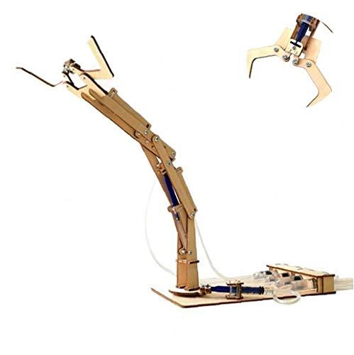 shentaotao 1PC Science Kid Brazo robótico de Aprendizaje y exploración Conjunto hidráulico Brazo robótico Kit de construcción de Juguetes educativos Madre Regalo de la diversión para el Estudiante