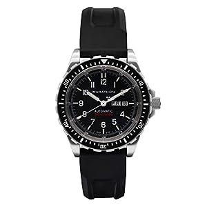 MARATHON WW194021 Swiss Made Military Bilingual Diver's Automatic Calendar Black Watch with Tritium image