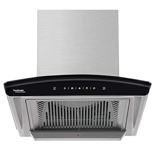Hindware Nadia 60 cm 1200 m³/hr Filterless Auto-Clean Kitchen Chimney with Motion Sensor and Touch Control (Inox, C100218)