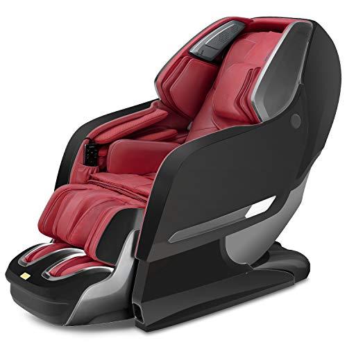 Naipo Massagesessel 3D Shiatsu Massagestuhl für Ganzkörper, mit Wärmefunktion, Integrierter Ionisator, Bluetooth, Schwerelosigkeit, Luft-Massage-System, Klopfen, Kneten, Wadenmassage, Fußrollenmassage