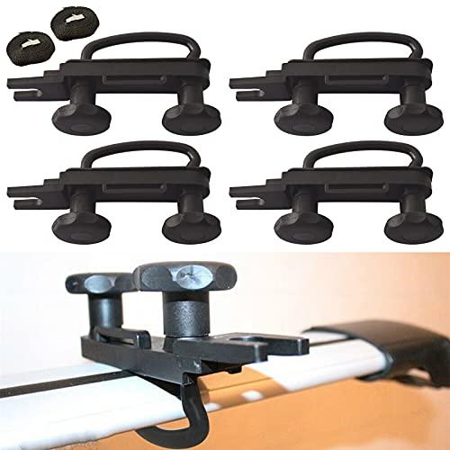 4er Set Dachbox Befestigung U Bügel Auto Van Montage Fitting Kit, U-Schrauben Schellen mit 8 Heavy Duty Kontermuttern, Dachbox Halterung Installationszubehörsatz