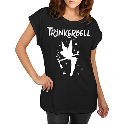 Frauen und Damen T-Shirt Trinkerbell Größe XS - 5XL