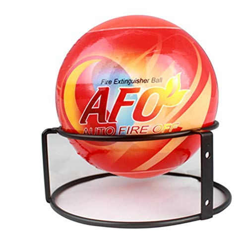 AFO Fireball Automatic Fire Extinguisher Ball with Wall Mounting Bracket (15cm Diameter)