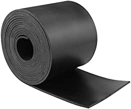 Neoprene Rubber Strips Solid Rubber Rolls Neoprene Solid Rubber Sheet for DIY Gasket, Warehouse, Pads, Seals, Weather Stripping, Crafts, Flooring, Supports. (W:4In x T: 1/8In x L: 10Ft)