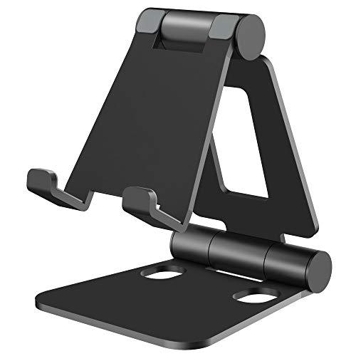 Nulaxy スマホスタンド 折り畳み式 ipadスタンド 270°角度調整可能 卓上横縦置き 充電可スタンド iPhoneス...