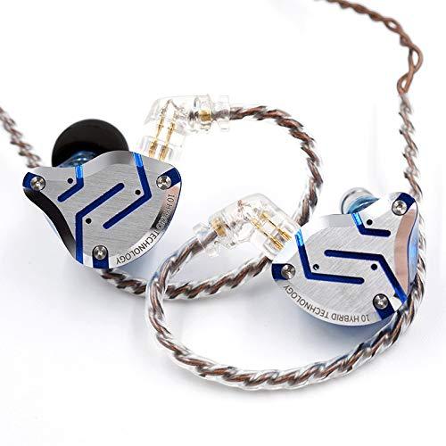 potente para casa Auriculares de metal KZZS10 Pro 4BA + 1DD Monitor híbrido con 10 auriculares con base HIFI …