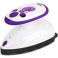 ANSIO Plancha de Viaje Mini con suela de cerámica perfecta para viajar y acolchar - Diseño Ligero y Compacto- 2 años de garantía - Púrpura / blanco