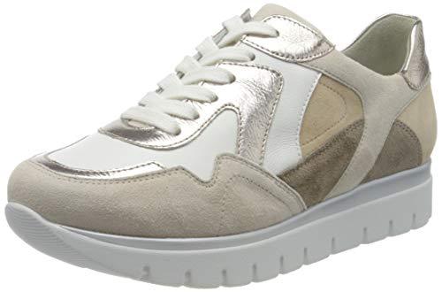 Semler Damen Silvia Sneaker, Mehrfarbig (Creme-Weiss-Puder-Panna-Camel 999), 40 EU