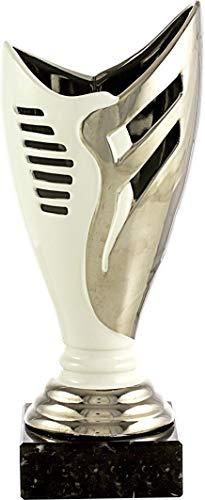 pallart 7271 – 1 trofee sport met design vaas keramiek en PLT 33 cm, zilver, eenheidsmaat