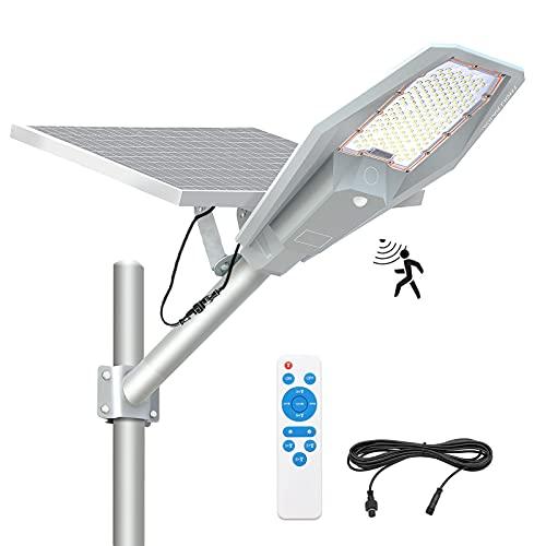 300W Solar Street Light Outdoor, APONUO Street Solar Lights Dusk to Dawn High Brightness 10000 Lumens Motion Sensor Solar Lamp with Remote Control IP67 Waterproof for Parking Lot, Pathway, Street