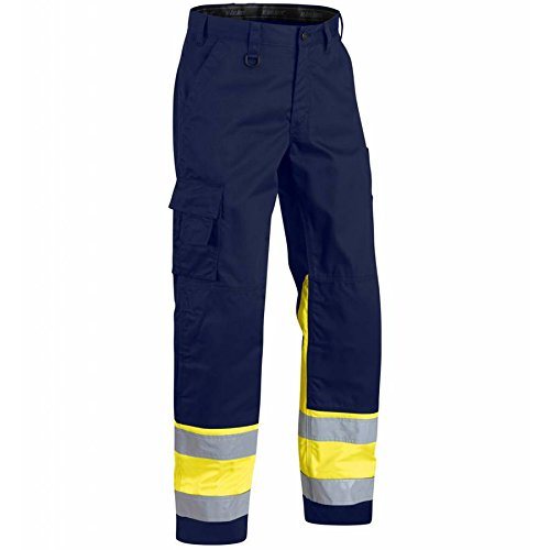 High Vis werkbroek D120 Navy Blue/Yellow