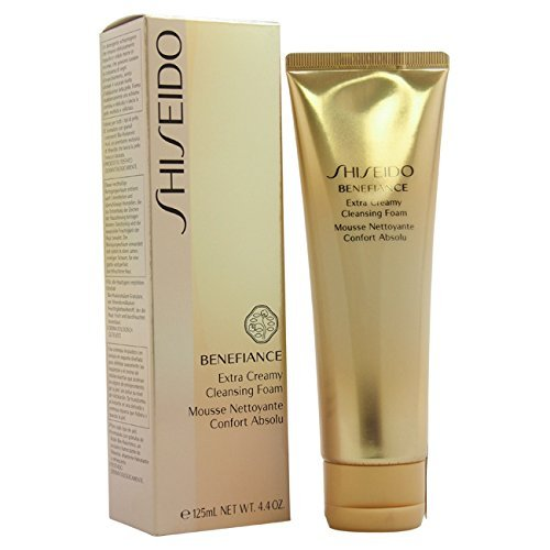 Shiseido Benefiance Wrinkle Resist24 Extra Cream Cleansing Foam for Unisex, 4.4 Ounce by Shiseido (English Manual)