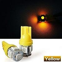 LED 12V T10 T16 5SMD オレンジ 黄色 イエロー Yellow ウェッジ バルブ 5SMD 5連 5050 SMD 1個 自動車 12V用ウィンカー ライト 相当5連 超高輝度 車用ライト・ランプ