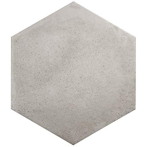 Nais Cerámica para suelos y paredes Colección Terra 29,2x25,4 cm -Caja de 1 m2 (18 Piezas), Hexagon Taupe