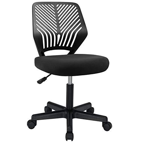 BOSSIN Kids Desk Chair Office Computer Chair for Teens,Mid-Back Armless Ergonomic Task Chair Adjustable Swivel Home Children Study Chair (Black)