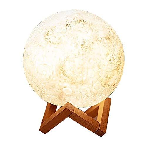 Lqp-Taiden Mond LED Night Light, elegante Nachttischlampe, USB Aufladung, 2 Leuchtmodi, Touch-Schalter, Wohnzimmerlampe, Stimmungslicht für Freundin, Freund, Geschenk und S