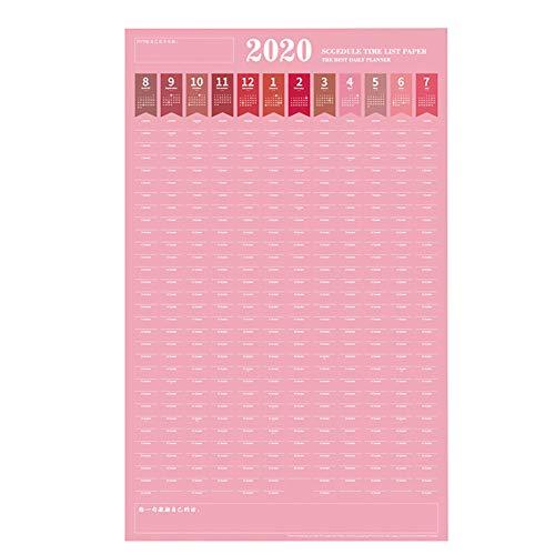 Calendario de Pared 2020 Calendario ejercicios Tabla autodisciplina Enviado 4 pegatinas Calendario de escritorio Calendario de escritorio de pared Calendario Se puede usar como regalo de cumpleaños