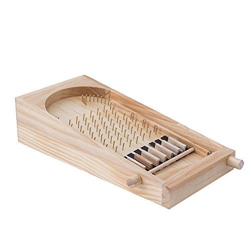 MX kingdom Traditionelle Tischplatte Spiel Vollholz Flipper Tabelle Kann DIY Spiel Optionen, Geeignet für Partys, Shop-Aktionen und Andere Szenen (Helle Farbe, Klein(34*17*8.5))