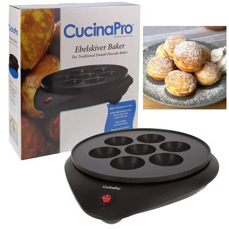 Ebelskiver Maker - Electric Non-stick Baker for Making Ebelskiver plus Octopus Balls, Aebleskivers, Donut Holes and Cake Pops